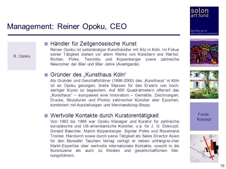 Management: Reiner Opoku, CEO