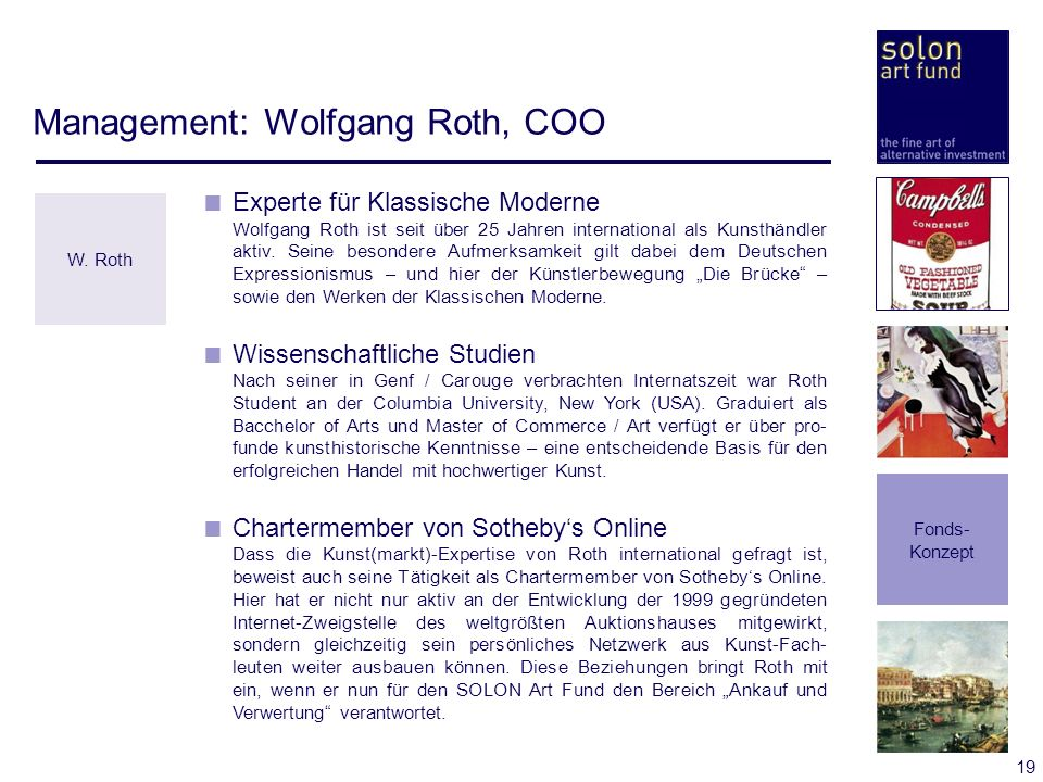 Management: Wolfgang Roth, COO