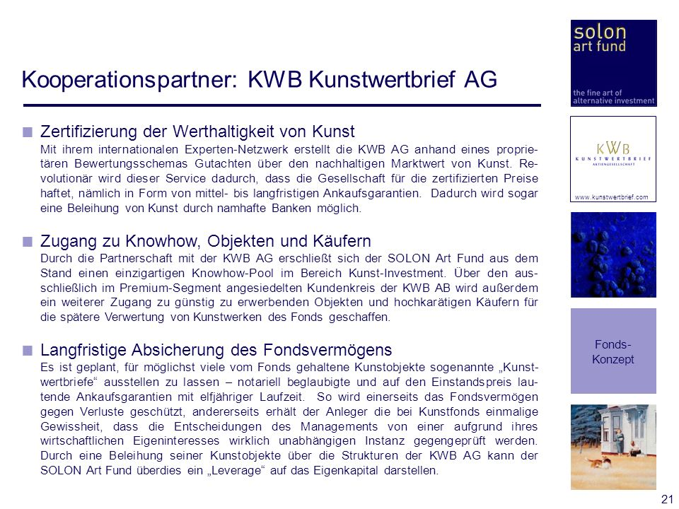 Kooperationspartner: KWB Kunstwertbrief AG