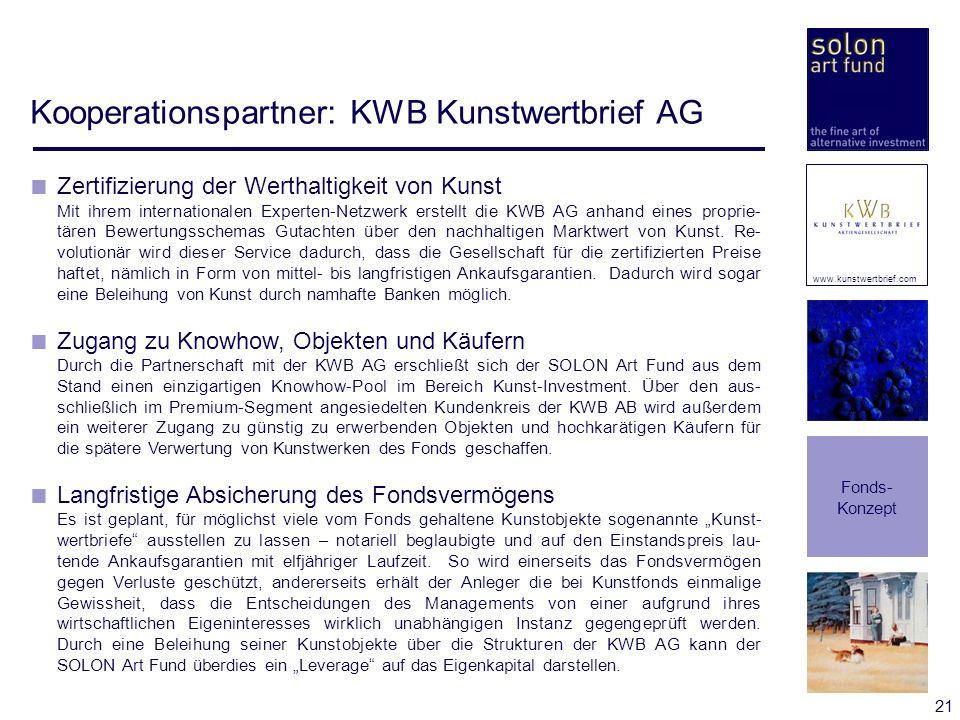 Kooperationspartner: KWB Kunstwertbrief AG