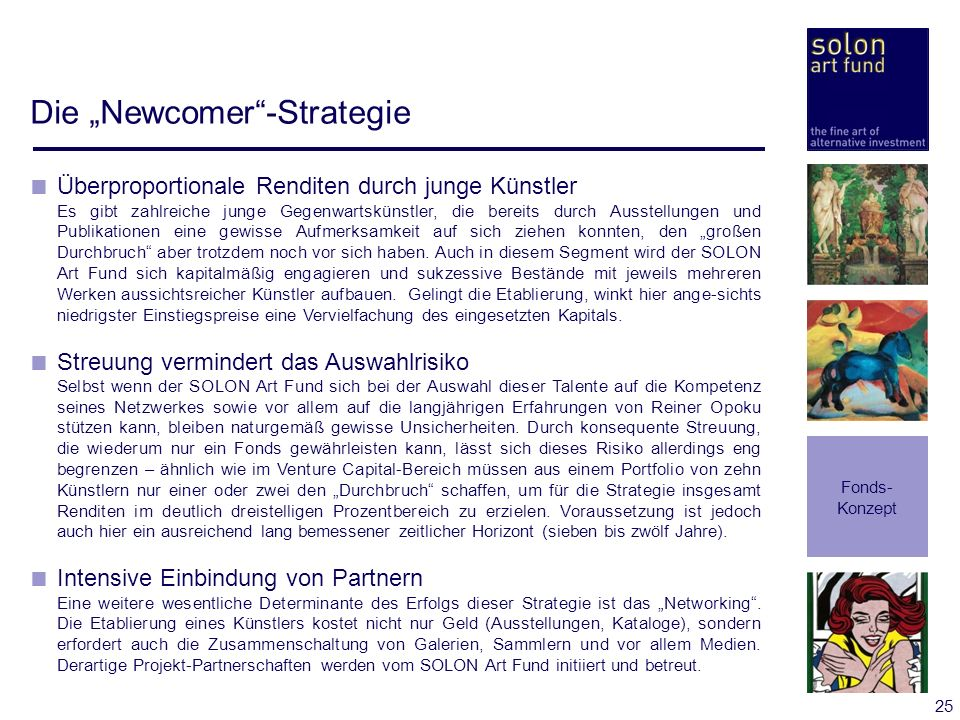 "Die ""Newcomer -Strategie"