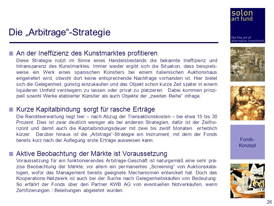 "Die ""Arbitrage -Strategie"