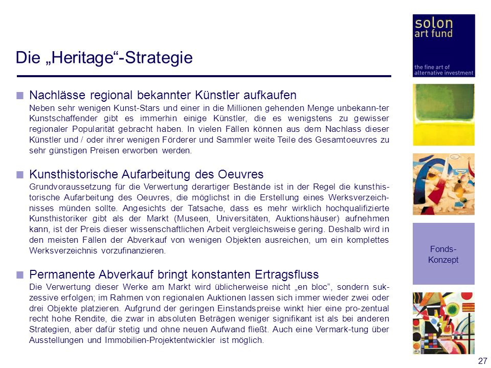 "Die ""Heritage -Strategie"