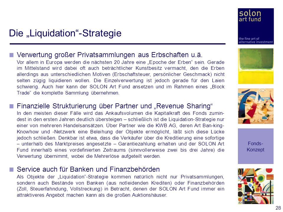 "Die ""Liquidation -Strategie"