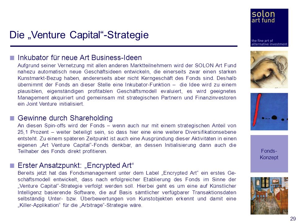"Die ""Venture Capital -Strategie"