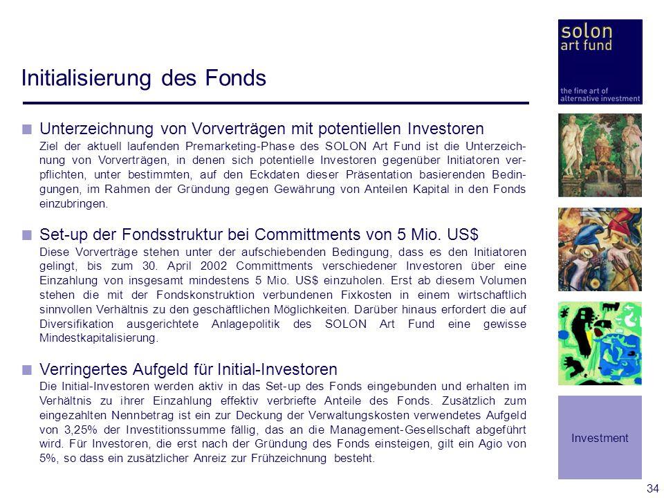 Initialisierung des Fonds