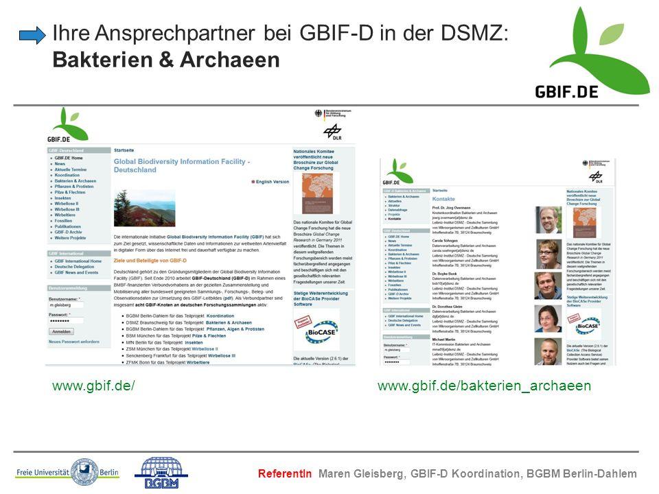 Ihre Ansprechpartner bei GBIF-D in der DSMZ: Bakterien & Archaeen