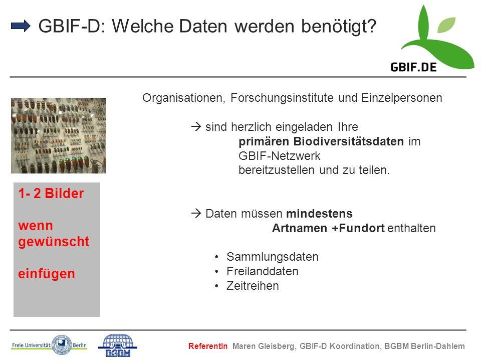 GBIF-D: Welche Daten werden benötigt