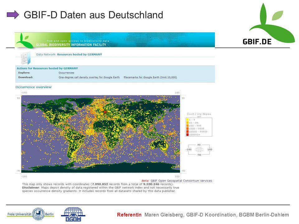 GBIF-D Daten aus Deutschland