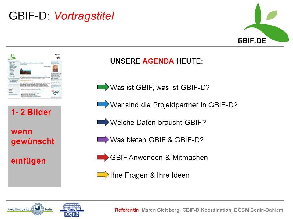 GBIF-D: Vortragstitel