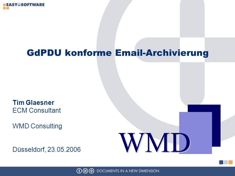 GdPDU konforme Email-Archivierung