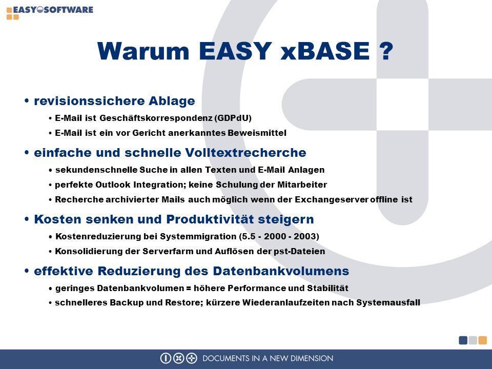 Warum EASY xBASE revisionssichere Ablage