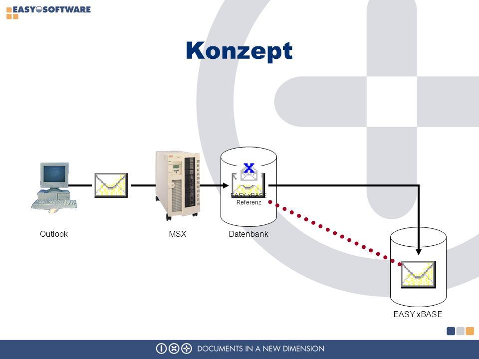 Konzept EASY xBASE Referenz Outlook MSX Datenbank EASY xBASE