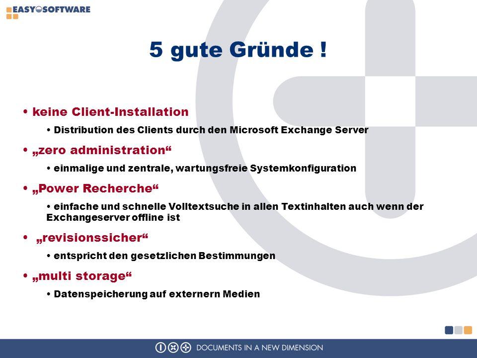 """5 gute Gründe ! keine Client-Installation """"zero administration"""