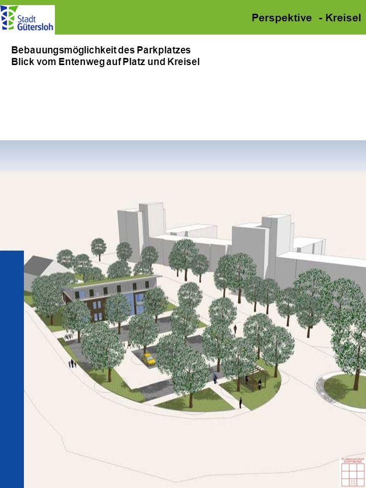 Perspektive - Kreisel Bebauungsmöglichkeit des Parkplatzes
