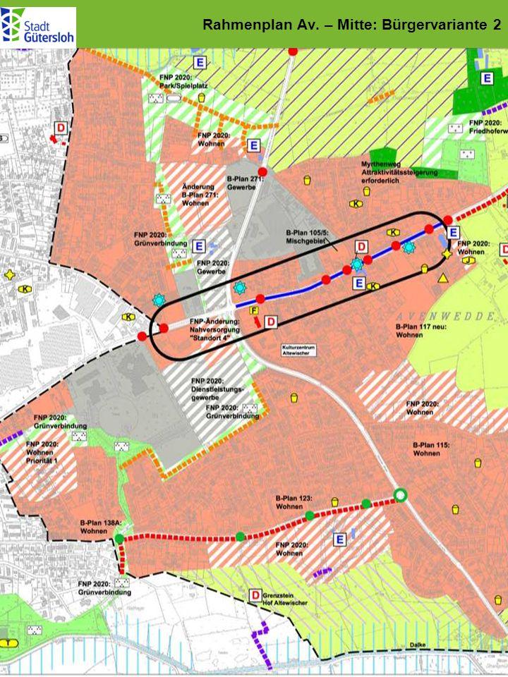 Rahmenplan Av. – Mitte: Bürgervariante 2