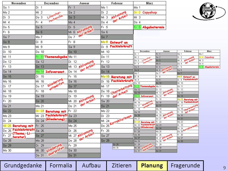 Planung der Arbeit Mit unvorherge-sehenen Ereig-nissen rechnen
