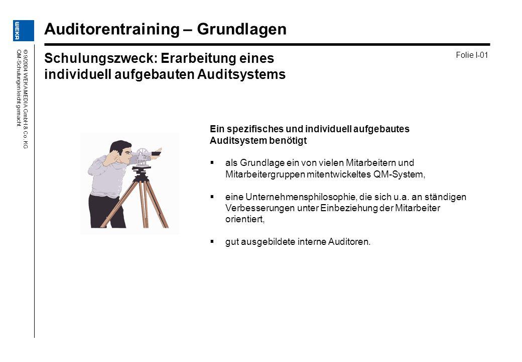 Auditorentraining – Grundlagen