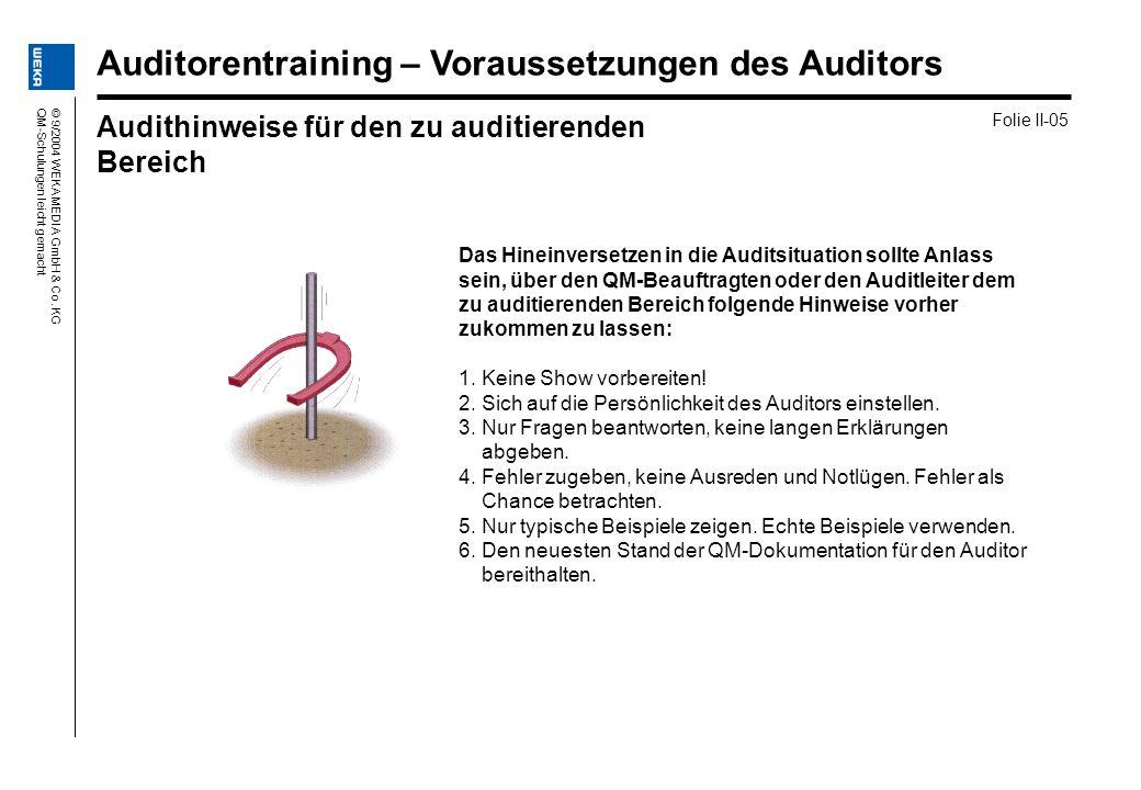Auditorentraining – Voraussetzungen des Auditors