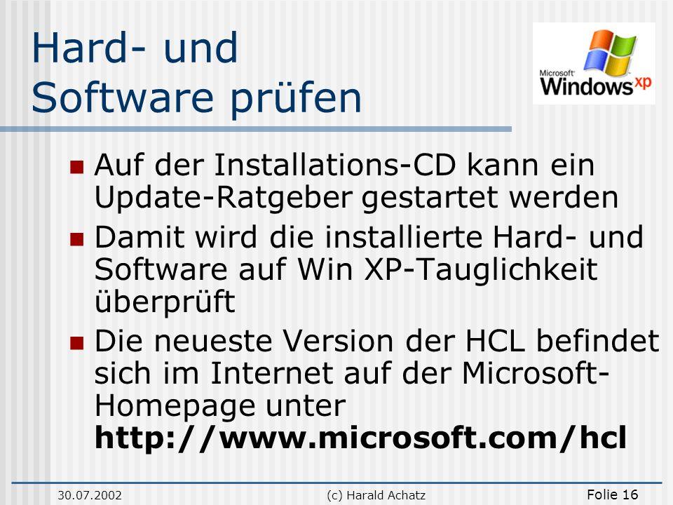 Hard- und Software prüfen