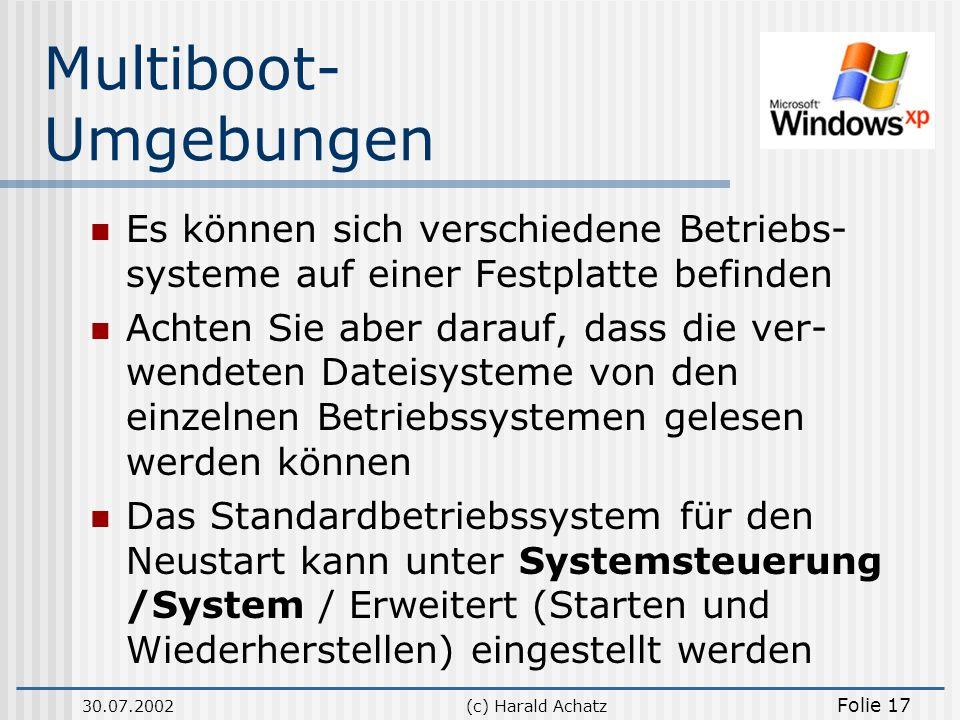 Multiboot-Umgebungen