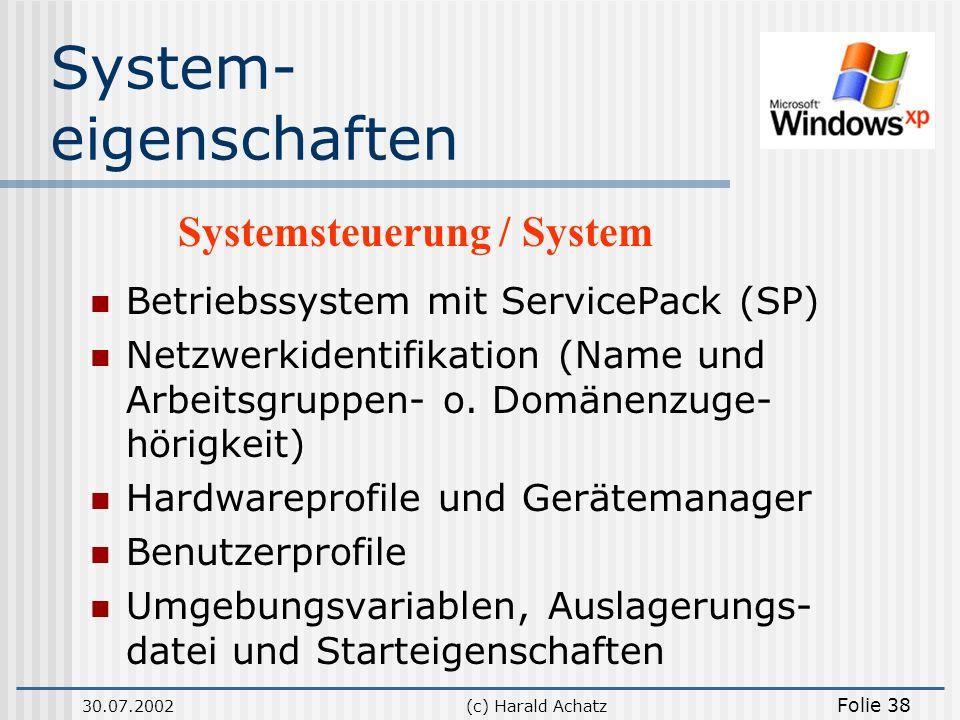 System- eigenschaften