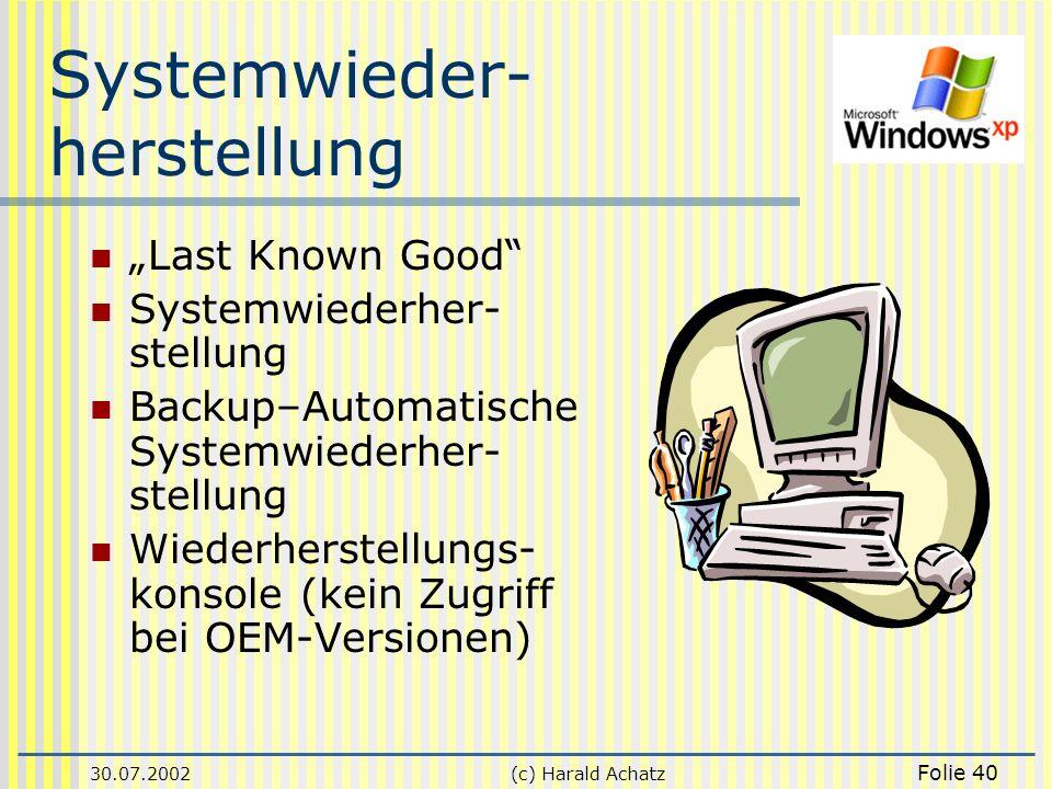 Systemwieder- herstellung