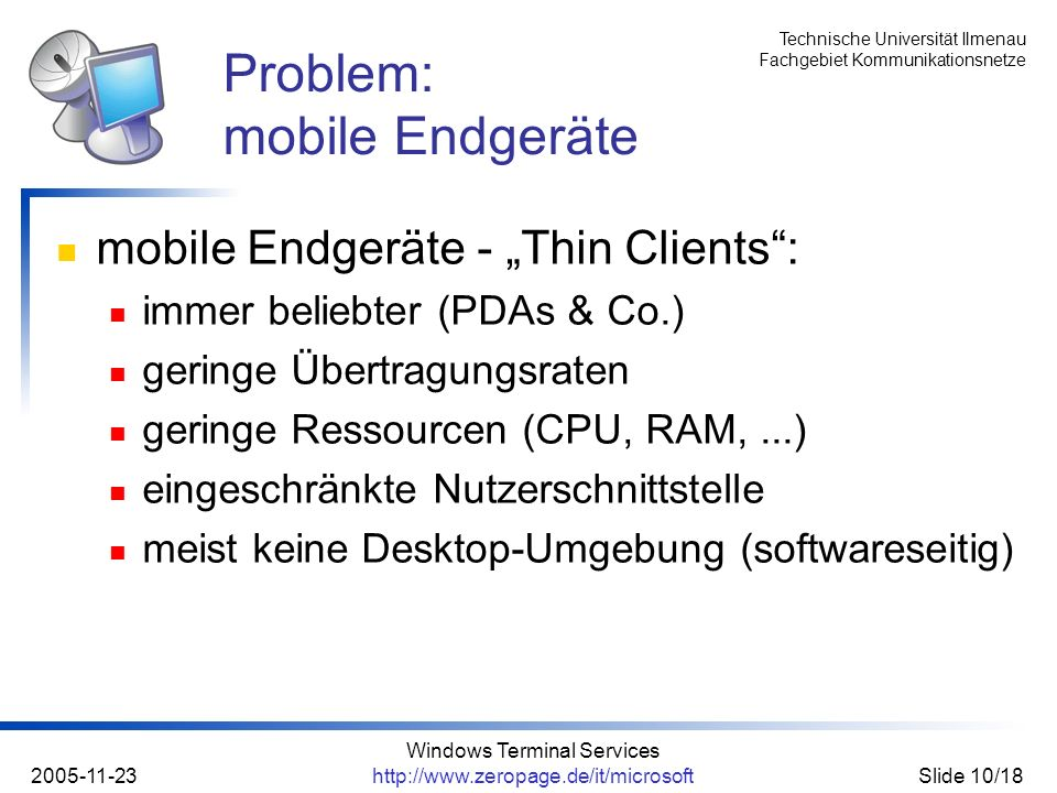 Problem: mobile Endgeräte