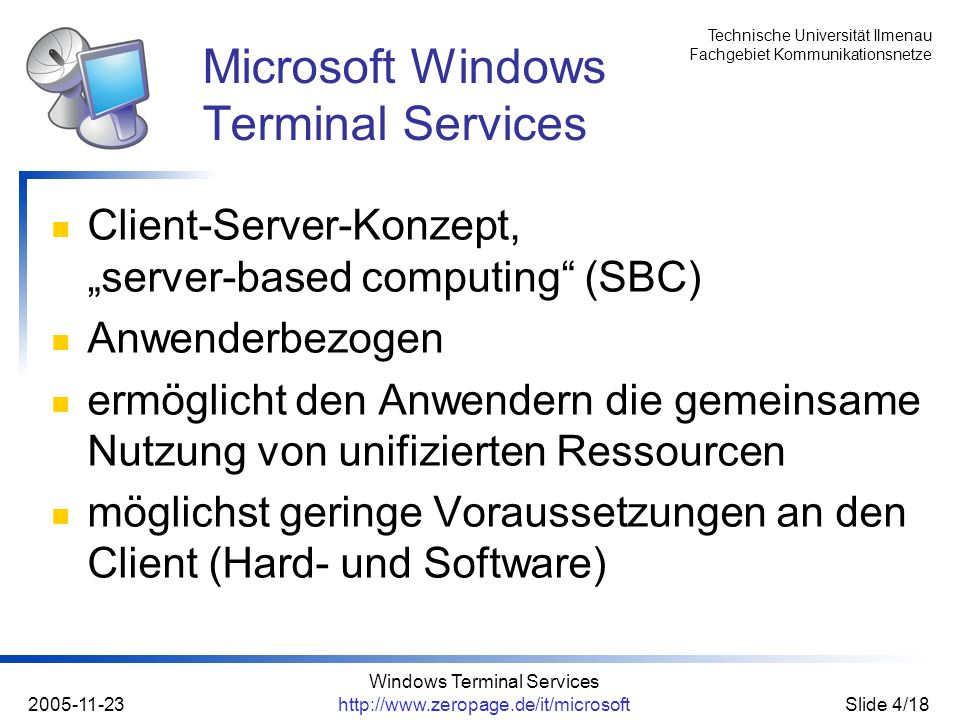 Microsoft Windows Terminal Services