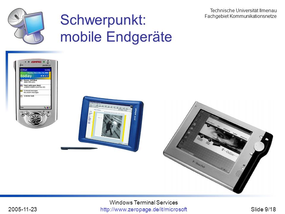 Schwerpunkt: mobile Endgeräte