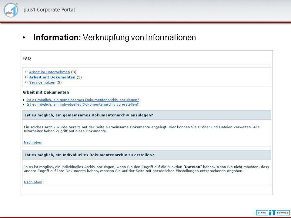 Information: Verknüpfung von Informationen