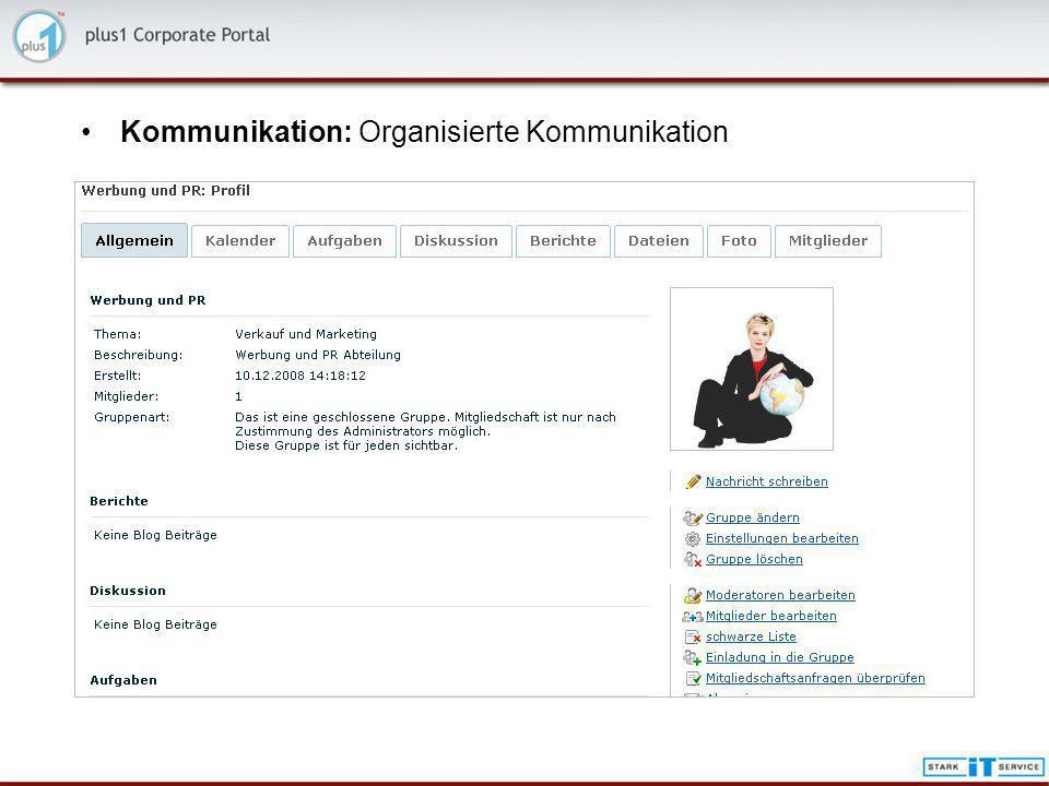 Kommunikation: Organisierte Kommunikation
