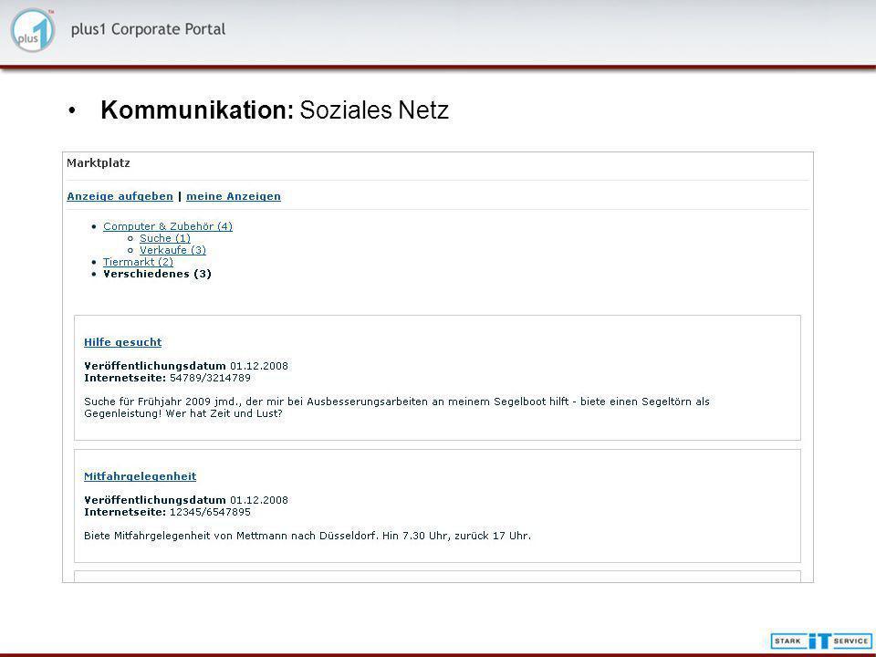 Kommunikation: Soziales Netz