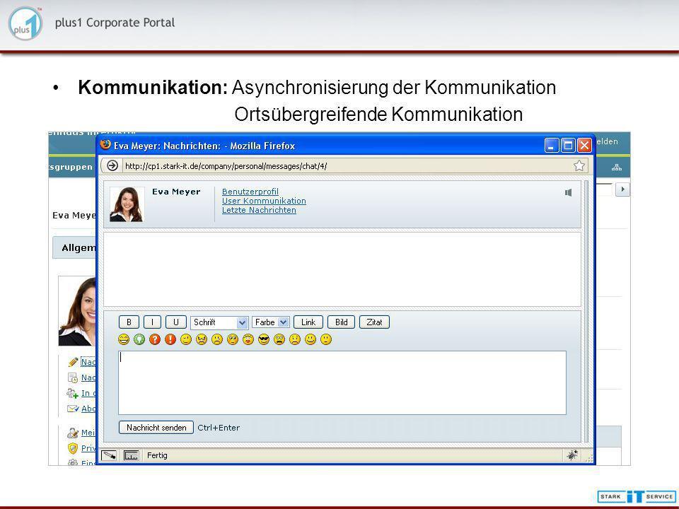Kommunikation: Asynchronisierung der Kommunikation
