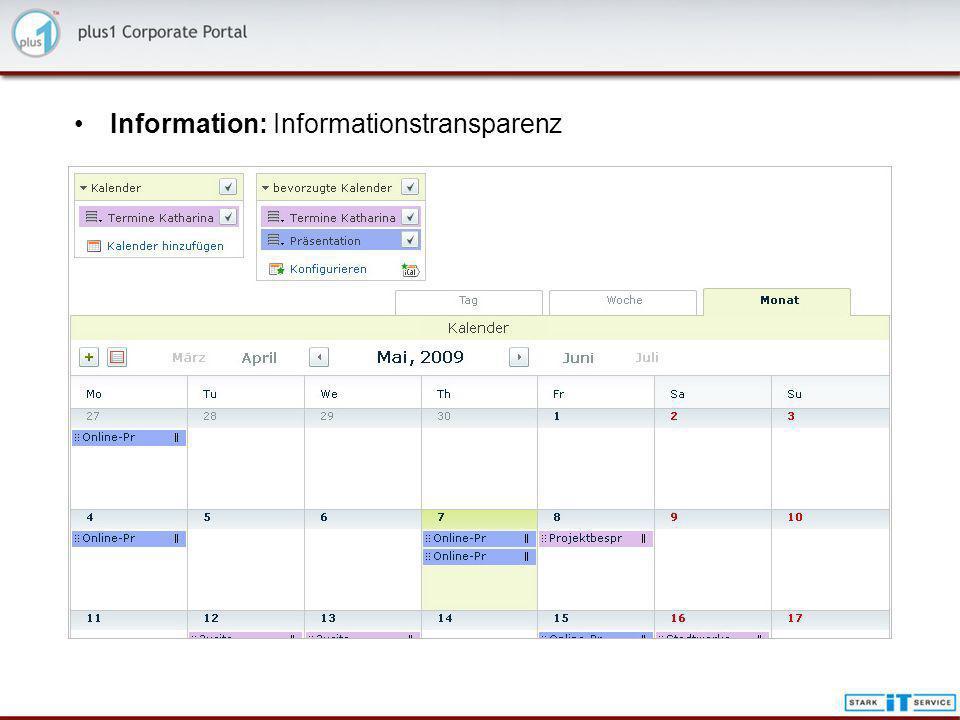 Information: Informationstransparenz