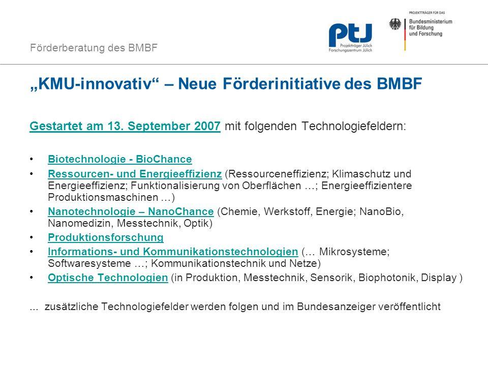"""""""KMU-innovativ – Neue Förderinitiative des BMBF"""