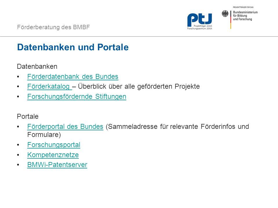 Datenbanken und Portale