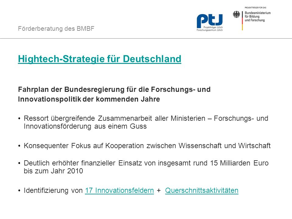 Hightech-Strategie für Deutschland