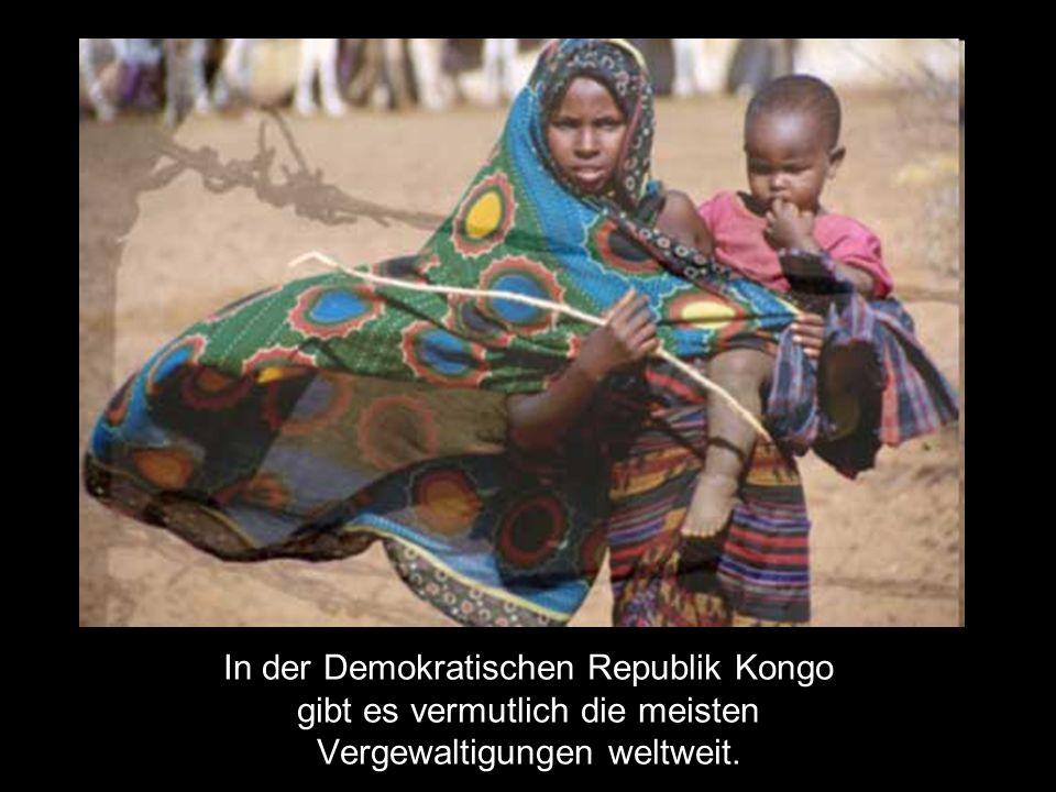 In der Demokratischen Republik Kongo gibt es vermutlich die meisten