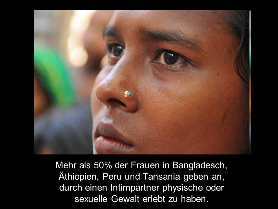 Mehr als 50% der Frauen in Bangladesch,