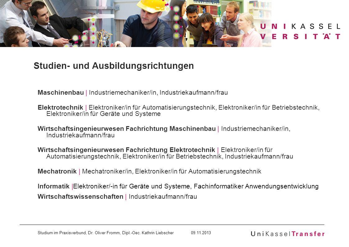 Studien- und Ausbildungsrichtungen
