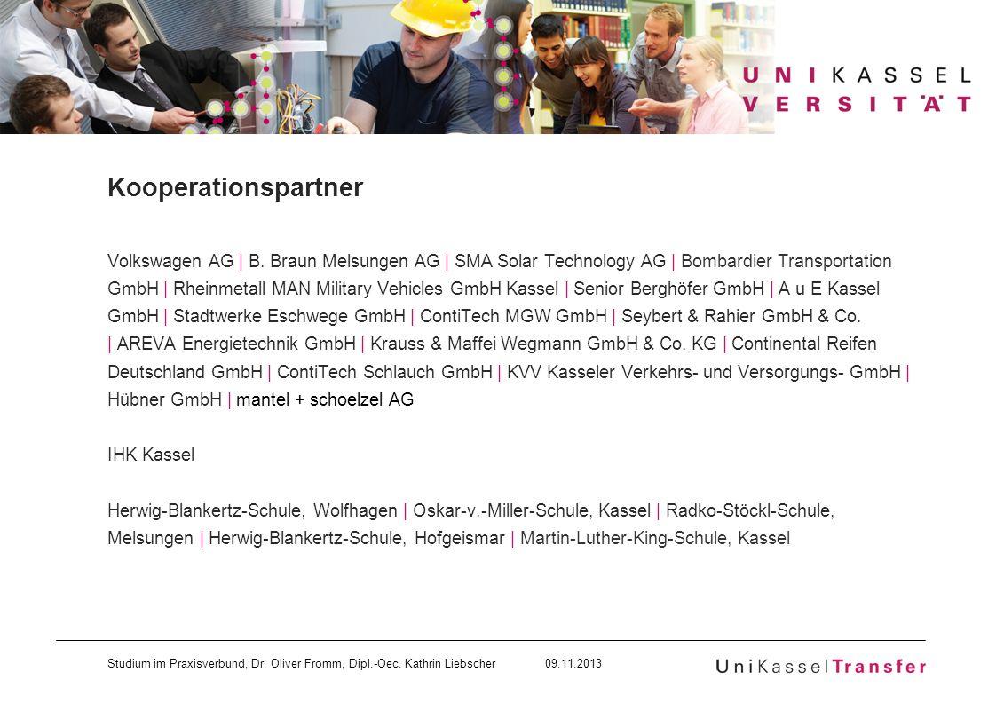 Kooperationspartner Volkswagen AG | B. Braun Melsungen AG | SMA Solar Technology AG | Bombardier Transportation.