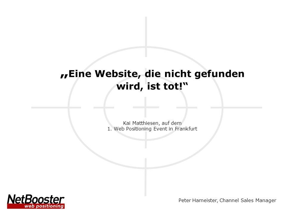 """""""Eine Website, die nicht gefunden wird, ist tot"""