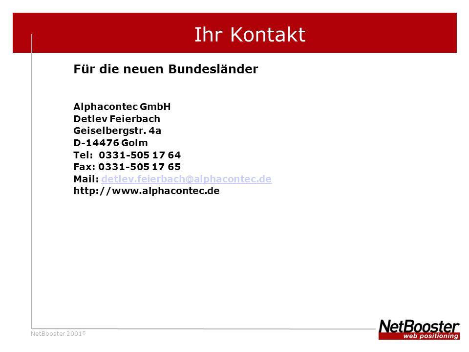 Ihr Kontakt Für die neuen Bundesländer Alphacontec GmbH