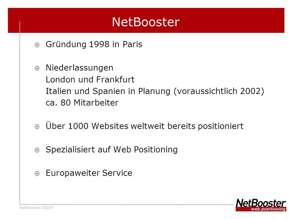 NetBooster Gründung 1998 in Paris Niederlassungen London und Frankfurt