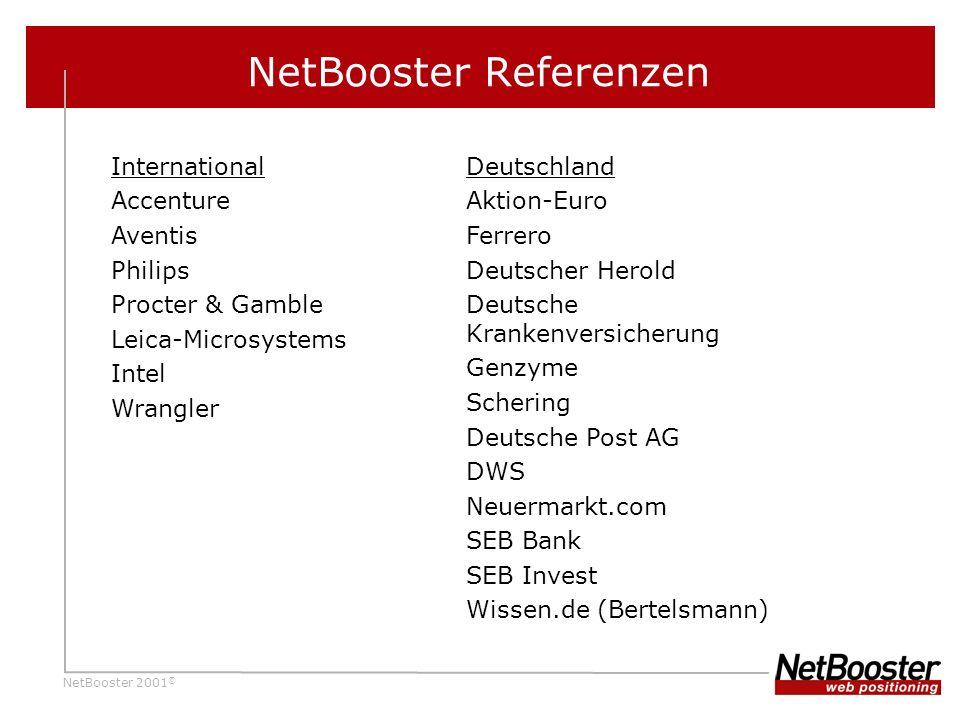 NetBooster Referenzen