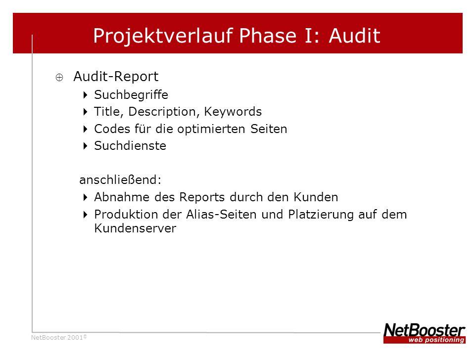 Projektverlauf Phase I: Audit