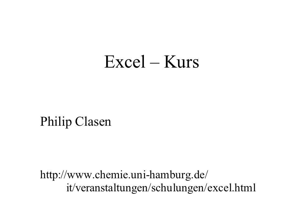Excel – Kurs Philip Clasen