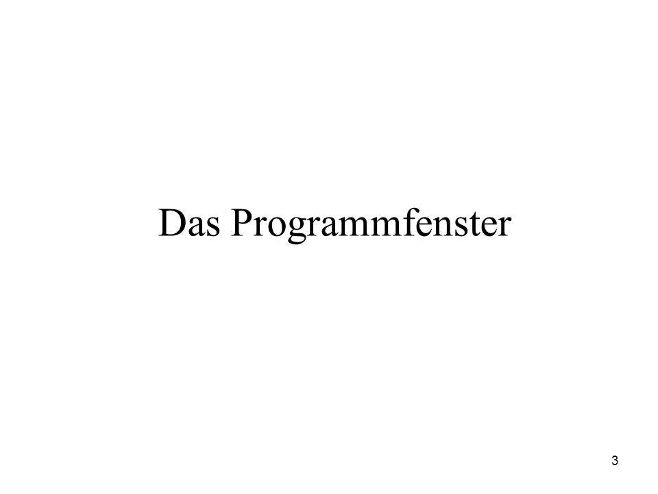 Das Programmfenster