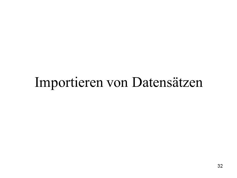Importieren von Datensätzen